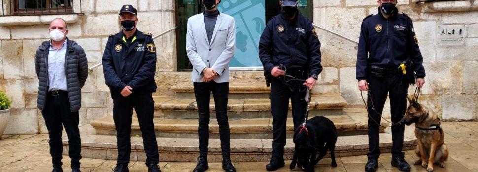 La Policia Local de Vinaròs presenta la nova unitat canina