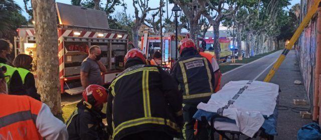 Joven herida en Benicarló al caer en un edificio en ruinas