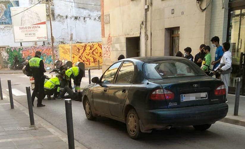 Lesionado en Benicarló al caerse de su moto