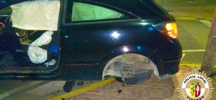 Accident sense ferits al carrer Aragó de Vinaròs
