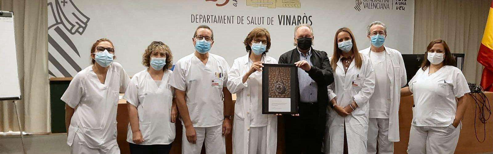 Mostra d'agraïment dedicada al col·lectiu d'Infermera del Departament de Salut de Vinaròs