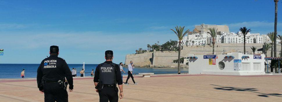 La Policia Local de Peníscola intensifica les patrulles informatives i de control per al compliment de les restriccions anti Covid