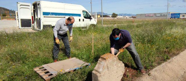 Amposta recupera una creu vinculada a l'antiga diligència de Barcelona a València