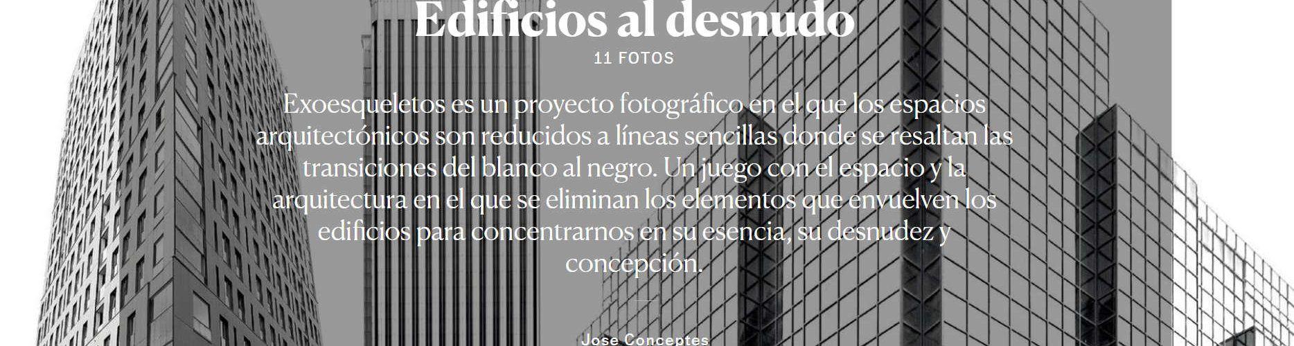 El País Setmanal dedica tres dobles pàgines al fotògraf de Vinaròs Jose Conceptes