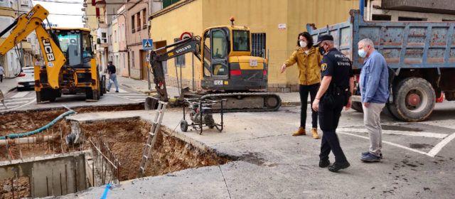 Comença la segona fase de les obres dels pluvials de l'avinguda de Maria Auxiliadora de Vinaròs