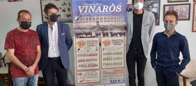 Tres espectáculos taurinos en la Fira i Festes de Sant Joan i Sant Pere de Vinaròs