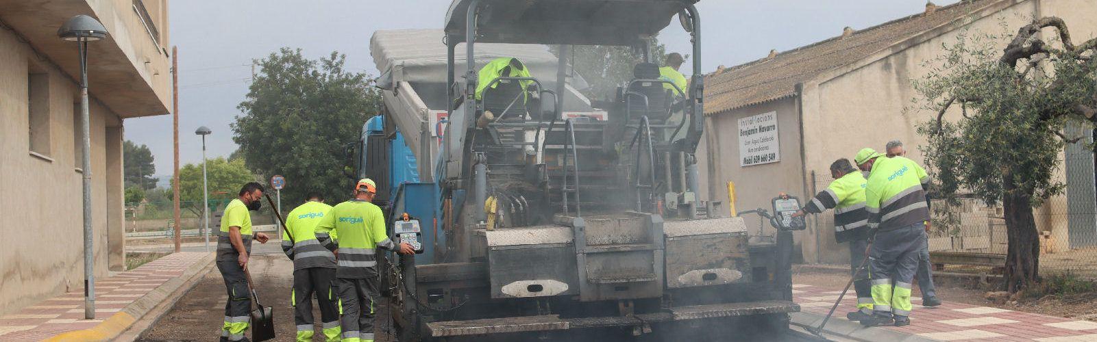 L'Aldea arranja els carrers i camins danyats pel temporal Glòria