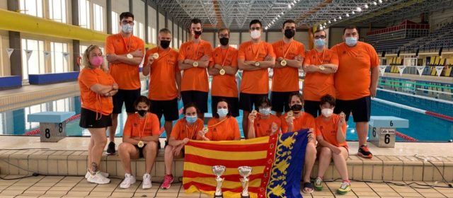 El vinarossenc Sergi Castell, campió d'Espanya amb la selecció valenciana de natació adaptada