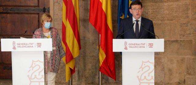 Ximo Puig anuncia el adelanto al lunes de la vacunación de la franja de edad de entre 30 y 39 años y la recomendación del uso de la mascarilla al aire libre, excepto en playas y espacios naturales