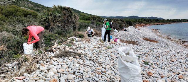 """Recogen todo tipo de residuos en la playa de La Basseta (Peñíscola) dentro de la campaña """"Limpiemos los mares"""""""