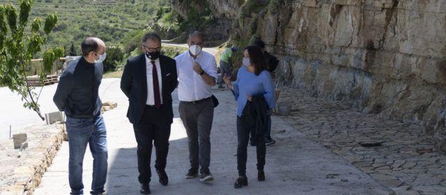 El president de la Diputación visita Portell de Morella i Castellfort