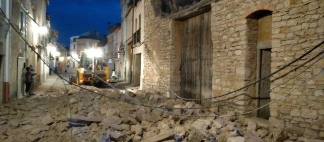 Derrumbe de una vivienda deshabitada en Catí