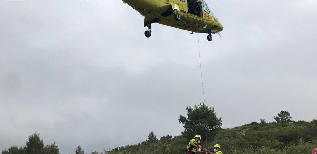 Rescate en Alcalà de un senderista lesionado que no podía caminar