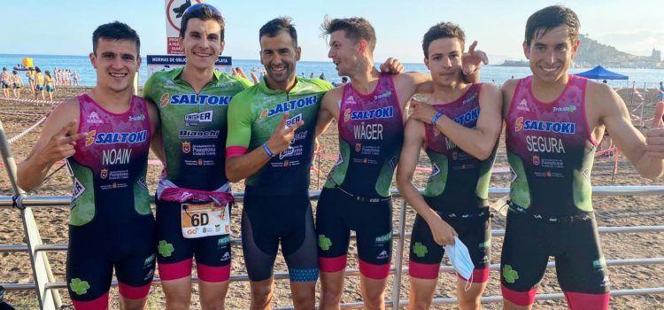 Guillem Segura, subcampió d'Espanya de triatló per parelles/relleus
