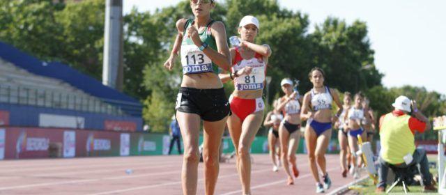 Andrea Cabré en el Campionat d'Espanya Absolut de Getafe