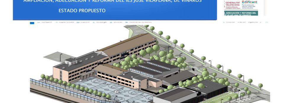 Vinaròs presenta el projecte de millora i ampliació de l'institut José Vilaplana