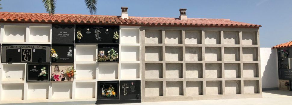 Les obres d'ampliació i millora del cementeri de Santa Magdalena entren en la seua recta final