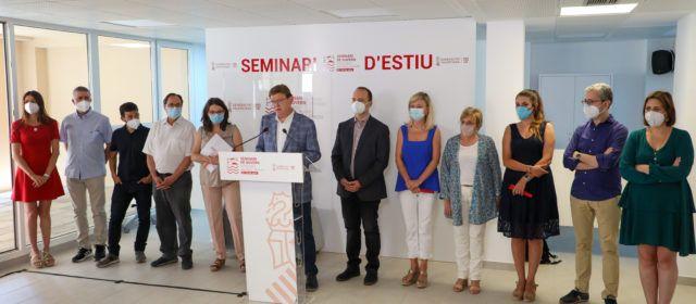 Ximo Puig diu a Benassal que la Comunitat Valenciana assolirà la immunització de grup abans del 9 d'Octubre
