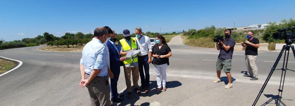 Vídeo: visita d'autoritats a la millora de la carretera CV-101 Vinaròs-Alcanar