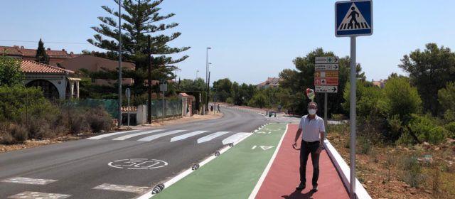 Alcalà-Alcossebre suma més carril bici i zones per als vianants amb la carretera de les Fonts