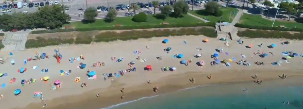 La Policia Local de Vinaròs controla les platges amb el dron