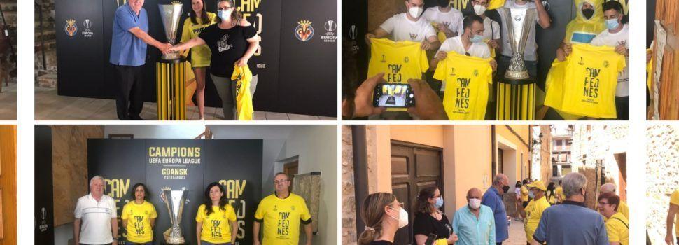 La copa de l'Europa League del Villarreal CF, exposada i admirada a Alt Maestrat