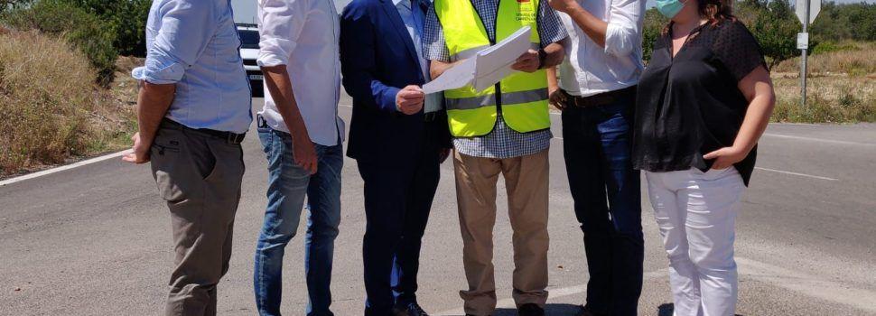 El president Martí visita les obres de millora a la carretera CV-101 entre Vinaròs i Alcanar