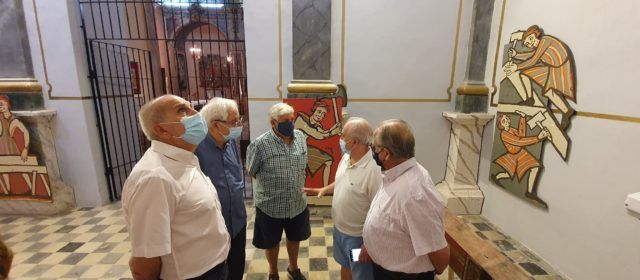 Amat Bellés pide completar la recuperación de las pinturas medievales de la iglesia de Vallibona
