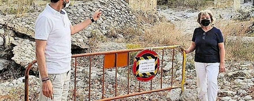 Denuncian el corte de la pasarela del Bergantes que une Ortells y Villores