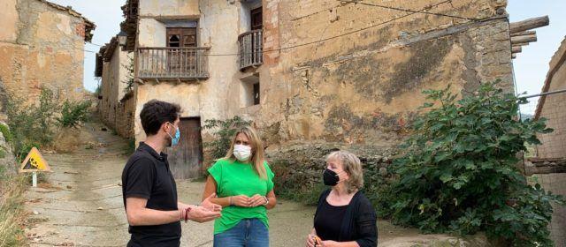 Veïns d'Ortells reivindiquen solucions al risc d'enderrocament de vivendes
