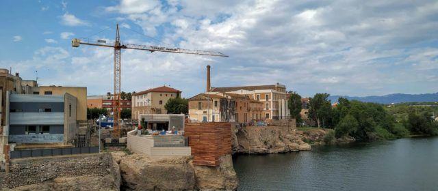 Fotos: La 'reconstrucció' del castell d'Amposta