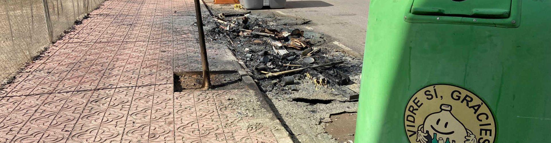 La Policia Local de Vinaròs deté el presumpte responsable del incendis dels contenidors