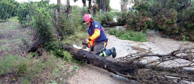 Fotos: conseqüències de la tempesta d'aquest dissabte a Vinaròs