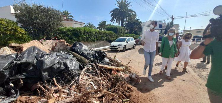El Consell inicia con carácter de urgencia las actuaciones para paliar los daños en Vinaròs por las fuertes lluvias