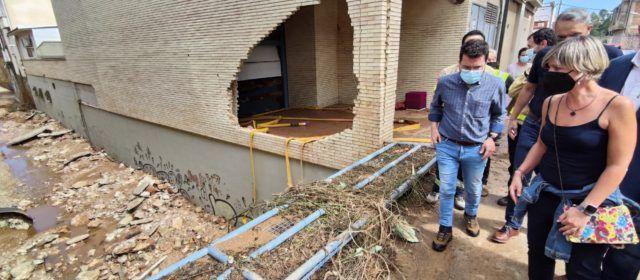 El president del Govern i la presidenta de la Diputació es desplacen al Montsià per conèixer al detall la situació causada pels aiguats