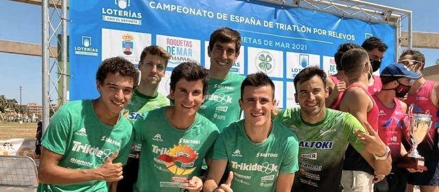 Guillem Segura, subcampió amb el seu equip de la 1ª Divisió Nacional de Triatló