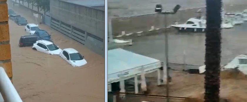 Onze vídeos de les inundacions a Alcanar i les Cases