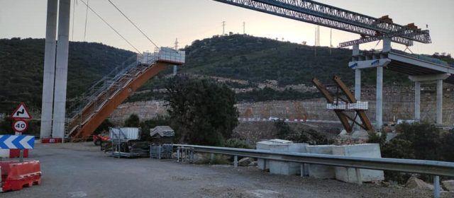 Fotos: Creix l'arc del viaducte del port de Querol, a la N-323