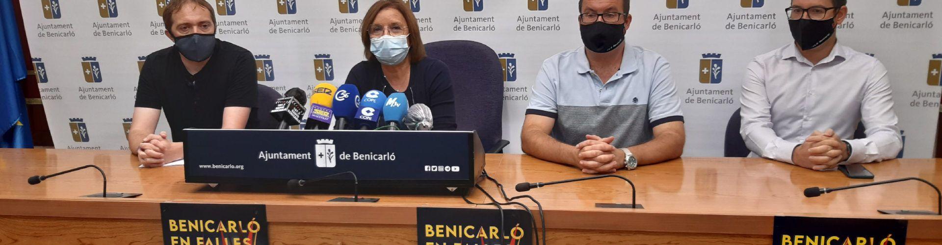 Ajuntament i Junta Local Fallera de Benicarló escenifiquen el suport total a les Falles 2021