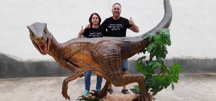 Un velociráptor de Cosplay Vinaròs, al Gàmesis