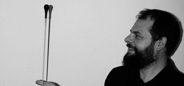 Dani Ibáñez: un vinarossenc, dirigint la banda de música de Teruel
