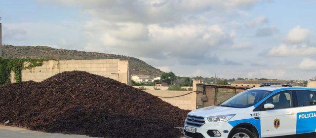 La Policía de la Generalitat incrementa los dispositivos de control en almacenes de algarroba y almendra
